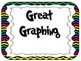 Yes/No Graph Questions in Chevron Print Multi Colored with Black Background