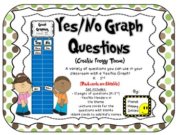 Yes/No Graph Questions in Croakin' Froggy Theme