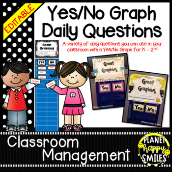Yes/No Graph Questions in Polka Dot Print