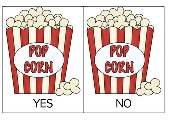 Speech Therapy: Yes/No Popcorn Game #2