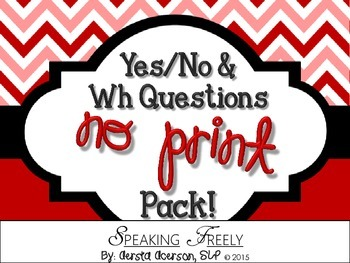 Yes/No and Wh Questions NO PRINT Pack!