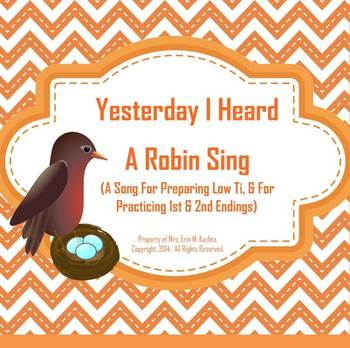 Yesterday I Heard A Robin Sing: Intro. Low Ti/1st & 2nd En