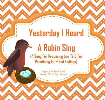 Yesterday I Heard A Robin Sing: Intro. Low Ti/1st & 2nd Endings - SM NTBK Edtn.