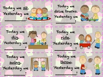 Yesterday I...Irregular Past Tense Verbs