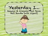 Yesterday I: Regular and Irregular Past Tense Verb Bundle