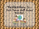 Yesterday I: Three Regular Past Tense Rules Bundle