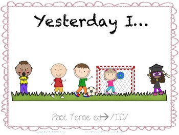 Yesterday I...Regular Past Tense -ed-->ID