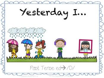 Yesterday I...Regular Past Tense -ed-->D