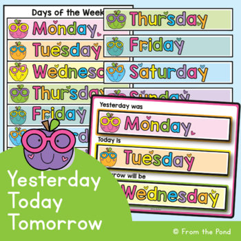 graphic regarding Printable Days of the Week Chart called Yesterday, Currently, Tomorrow Times of the 7 days Chart
