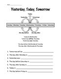 Yesterday, Today, Tomorrow Worksheet