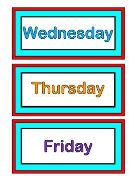 """""""Yesterday, Today, and Tomorrow!"""" - Calendar Game with Rhythm and Rhyme!"""