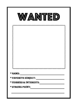 Wanted worksheet by Lovelymily | Teachers Pay Teachers