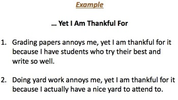 """Yet I Am Thankful For"" Thanksgiving Writing Activity"