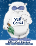 Yeti Cards– Letters, Words and Numbers