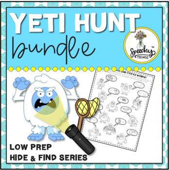 Yeti Hunt BUNDLE - Low Prep Winter Speech Therapy Activity