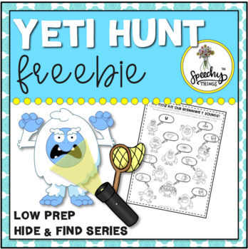 Yeti Hunt FREEBIE : Low Prep Speech Therapy Winter Articulation Activity