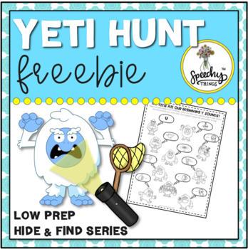 Yeti Hunt FREEBIE : Low Prep Speech Therapy Winter Articulation Activity