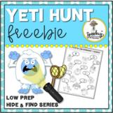 Yeti Hunt FREEBIE - Low Prep Speech Therapy Winter Articul