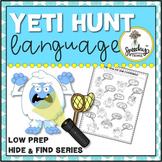 Yeti Hunt Language : Low Prep Speech Therapy Winter Articu
