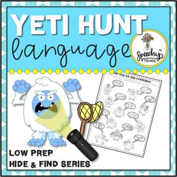 Yeti Hunt Language : Low Prep Speech Therapy Winter Activity