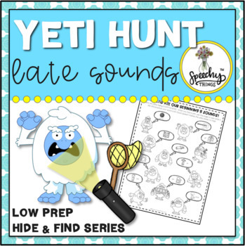 Yeti Hunt Late Sounds : Low Prep Speech Therapy Winter Articulation Activity