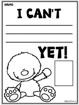 Yeti Mindset Banners, Posters and Mindset Worksheets