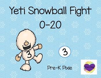 Yeti Snowball Fight 0-20
