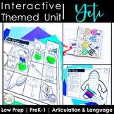 Yeti Speech Therapy Activities: Interactive Winter Animal Unit
