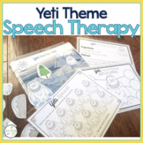 Speech Therapy Themed Packet for Mixed Groups:  WINTER YETI