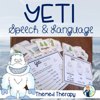 WINTER YETI Speech Therapy Themed Packet for Mixed Groups