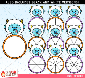 Yeti Spinners Winter Clip Art