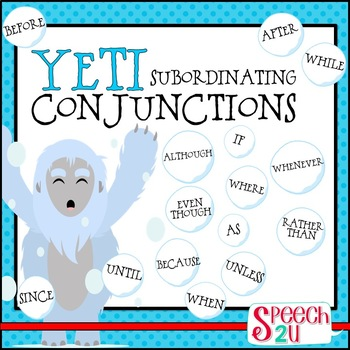 subordinating conjunctions and complex sentences by speech2u tpt