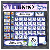 Yeti Themed Classroom Decor - Calendar Sets | EDITABLE