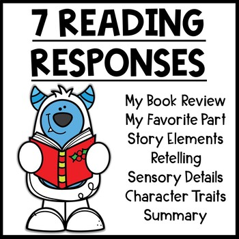 Yeti Themed Reading Response Worksheets