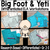 Yeti and Big Foot Compare and Contrast Reading Centers