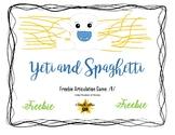 Yeti in My Spaghetti Game Companion Freebie: Articulation