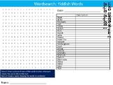 Yiddish Words Wordsearch Puzzle Sheet Keywords Language Jewish Religion