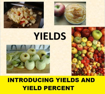 Yields Slideshow for use with Applesauce Yields Activity;