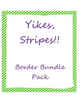 Yikes, Stripes Border Pack