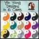 Yin Yang Clip Art Graphics for Personal and Commercial Use