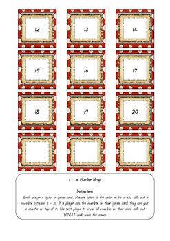 Yo Ho Ho! Number Bingo 0 - 20