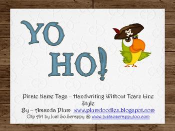 Yo Ho!  Pirate Name Tags (HWT)