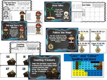 Yo Ho, Yo Ho, A Pirate's Life For Me Math Centers - Sept 2nd Grade