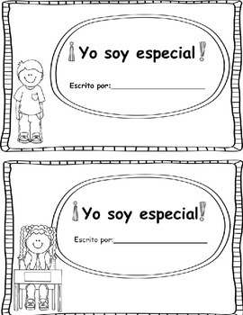 Yo Soy Especial - Beginning of the Year About Me Book - Spanish Only Version