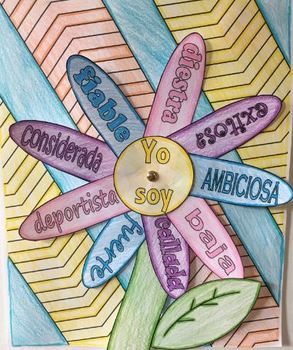 Yo Soy Flor project - Spanish Adjective and describing word project