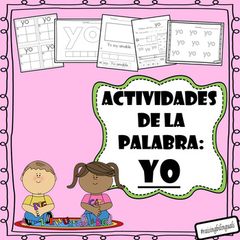 Yo (Spanish sight word work)