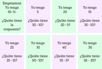 Yo Tengo: Collaborative Spanish Speaking Practice with Numbers (números)