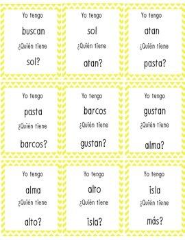 Yo Tengo Quien Tiene Closed Syllables (Silabas Cerrados) La Calle de la Lectura
