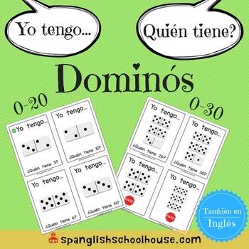 Yo Tengo, Quién Tiene Dominós {I Have, Who Has Dominoes in Spanish }