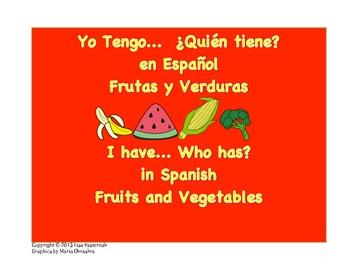 Yo Tengo ¿Quién Tiene? I Have Who Has Game in Spanish-Frui
